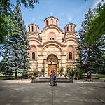 Front façade, New Gracanica Monastery, Third Lake, Illinois<br /> <br /> With His Holiness Irinej, Patriarch of the Serbian Orthodox Church<br /> <br /> <br /> #NGMWADiocese<br /> #GlorificationStMardarije, #Chicago, #PatriarchIrinej, #MetropolitanAmphiloije<br /> #SerbianOrthodoxChurch