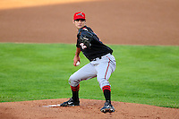 Tyler Beede (18) of the Richmond Flying Squirrels delivers a pitch during a game versus the New Hampshire Fisher Cats at Northeast Delta Dental Stadium on June 5, 2015 in Manchester, New Hampshire. (Ken Babbitt/Four Seam Images)