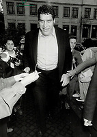 1987 FILE PHOTO - ARCHIVES -<br /> <br /> Wrestler and Actors Andre The Giant (right) at the screening of The Princess Bride.<br /> <br /> 1987<br /> <br /> PHOTO :  Erin Comb - Toronto Star Archives - AQP