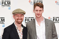 "Sean Foley and Robin Morrisey<br /> at the London Film Festival 2016 premiere of ""Mindhorn"" at the Odeon Leicester Square, London.<br /> <br /> <br /> ©Ash Knotek  D3167  09/10/2016"