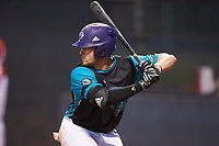 Sam Zayicek (33) (High Point) of the Mooresville Spinners at bat against the Lake Norman Copperheads at Moor Park on July 6, 2020 in Mooresville, NC.  The Spinners defeated the Copperheads 3-2. (Brian Westerholt/Four Seam Images)