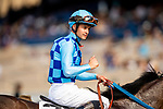 JULY 18, 2021: Flavien Prat at Del Mar Fairgrounds in Del Mar, California on July 18, 2021. Evers/Eclipse Sportswire/CSM
