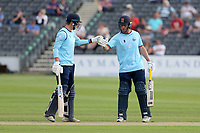 Michael Pepper and Tom Westley of Essex during Gloucestershire vs Essex Eagles, Royal London One-Day Cup Cricket at the Bristol County Ground on 3rd August 2021