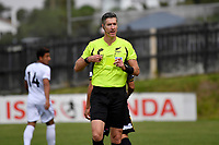 Referee Matthew Conger during the ISPS Handa Men's Premiership - Team Wellington v Hawke's Bay United at David Farrington Park, Wellington on Saturday 21 November 2020.<br /> Copyright photo: Masanori Udagawa /  www.photosport.nz