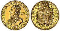 BNPS.co.uk (01202 558833)<br /> Pic: Spink/BNPS<br /> <br /> Pictured: Charles I, Pattern Unite of 20-Shillings, 1630, by Dutch Engraver Abraham Van Der Doort had an estimate of £25,000.<br /> <br /> The family of a late steeplejack are celebrating today after his incredible collection of rare coins sold for a whopping £2.8m.<br /> <br /> The 52 coins from the Tudor and Stuart periods were amassed by prolific collector Horace Hird over 50 years.<br /> <br /> He died in 1973 and it had been presumed he had sold all his coins while he was still alive. But a descendant found dozens of them still wrapped with their paperwork dating back to the 1960s.