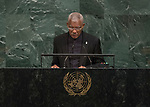 72 General Debate – 20 September <br /> <br /> <br /> <br /> His Excellency David Arthur Granger, President of the Republic of Guyana