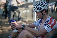 David Van der Poel (NED/Beobank-Corendon) post-race<br /> <br /> CX Superprestige Zonhoven 2016