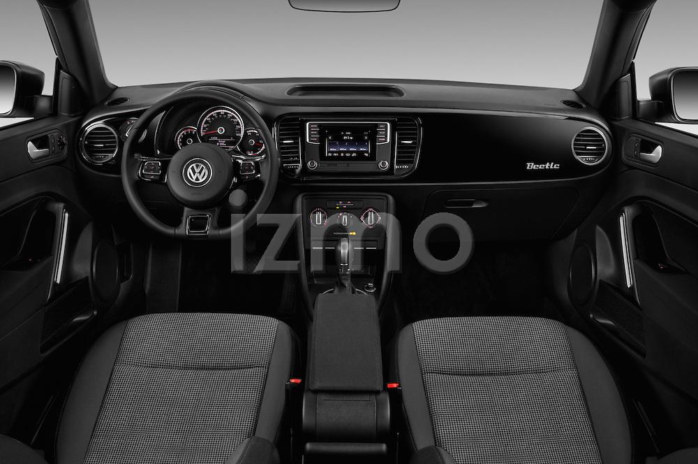 Stock photo of straight dashboard view of 2017 Volkswagen Beetle S 3 Door Hatchback Dashboard
