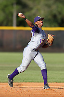 Montverde Academy Eagles shortstop Francisco Lindor #12 during a game at Olympia High School in Orlando, Florida;  March 7, 2011.  Photo By Mike Janes/Four Seam Images