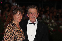 """JOHN HURT AND HIS WIFE AT THE PREMIERE OF THE FILM 'TINKER, TAILOR, SOLDIER, SPY' - 68TH INTERNATIONAL VENICE FILM FESTIVAL """"LA TAUPE"""""""