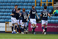 Millwall players celebrating their third goal during Millwall vs Bristol City, Sky Bet EFL Championship Football at The Den on 1st May 2021