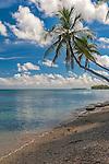 An idyllic coastal scene on the atoll island of Funafuti in Tuvalu