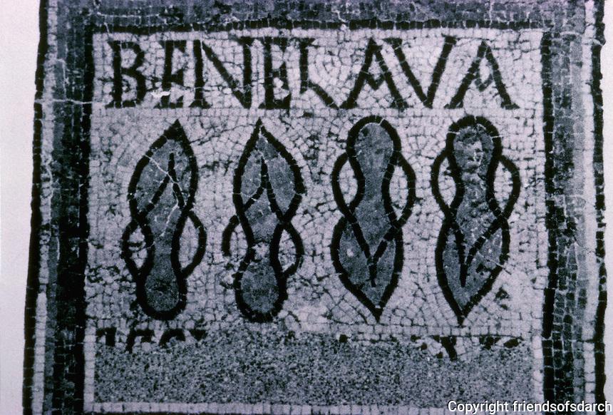 "Italy: Roman Timgad--Mosaic ""Bene Lava"", Men's Baths. Photo '83."