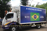 Campinas (SP), 18/01/2021 - Vacina-SP - Primeiro lote da vacina Coronavac contra a Covid-19 chega na Unicamp em Campinas, interior de São Paulo, nesta segunda-feira (18). Serão imunizados os servidores da saúde nesse primeiro momento.