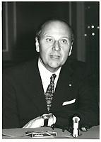 File Photo  - Pierre Cote, President du Conseil du Patronat du Quebec, 7 novembre 1978<br /> <br /> <br /> <br /> <br /> <br /> <br /> <br /> <br /> <br /> <br /> <br /> Pierre Cote, President, Conseil du Patronat du Quebec, a la tribune de la Chambre de commerce de Montreal, le mardi 7 novembre 1978.<br /> <br /> <br /> <br /> PHOTO : JJ Raudsepp  - Agence Quebec presse