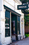 Old drug store and saloon in Farmington, Washington.  Palouse country.