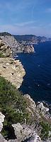 Europe/Provence-Alpes-Côte d'Azur/83/Var/Iles d'Hyères/Ile de Porquerolles: Côte rocheuse près de la calanque de l'Indienne