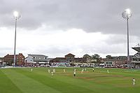 Play recommences under the floodlights during Somerset CCC vs Essex CCC, Specsavers County Championship Division 1 Cricket at The Cooper Associates County Ground on 26th September 2019