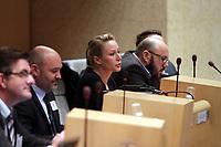 Marion Maréchal-Le Pen lors d'une séance plénière du Conseil Régional à Marseille, le 17 mars 2017. # MARION MARECHAL-LE PEN LORS D'UNE SEANCE AU CONSEIL REGIONAL A MARSEILLE