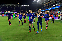 ORLANDO, FL - MARCH 05: Andi Sullivan #6 and the USWNT celebrate during a game between England and USWNT at Exploria Stadium on March 05, 2020 in Orlando, Florida.