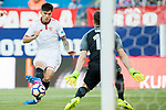 Carlos Joaquin Correa (c) of Sevilla FC shoots to score during their La Liga match between Atletico de Madrid and Sevilla FC at the Estadio Vicente Calderon on 19 March 2017 in Madrid, Spain. Photo by Diego Gonzalez Souto / Power Sport Images