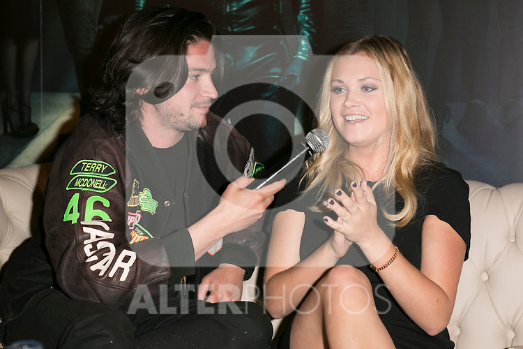 "The actors Thomas McDonell, Eliza Taylor attends the fan event of the tv shows ARROW and THE 100, at the ""ATRESMEDIA CAFE""   in Madrid, Spain. Jun 9, 2014. (ALTERPHOTOS/Carlos Dafonte)"