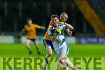 Laune Rangers Kieran Crowley been tackled by Spa's Niall<br /> O'Mahony in the Intermediate Football Championship Quarter final.