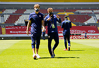GUADALAJARA, MEXICO - MARCH 18: Tanner Tessmann #11 and Sam Vines #13 of the United States check out the field prior to the start of the game before a game between Costa Rica and USMNT U-23 at Estadio Jalisco on March 18, 2021 in Guadalajara, Mexico.