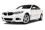 Stock pictures of low aggressive front three quarter view of a 2015 BMW 3 Series M Sport 5 Door Hatchback 2WD Low Aggressive