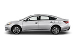 Car driver side profile view of a 2017 Toyota Avalon Limited Hybrid 4 Door Sedan