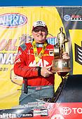 Doug Kalitta, Mac Tools, top fuel, victory, celebration, trophy, Toyota