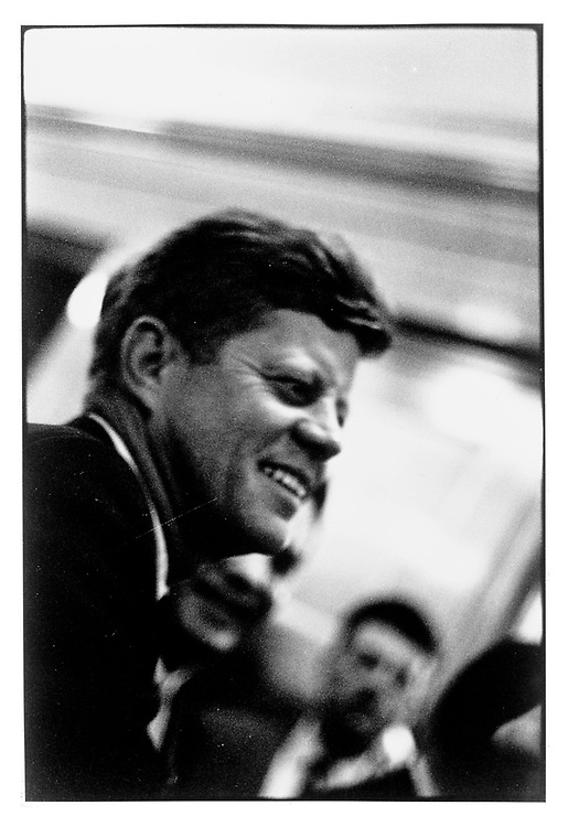 John F. Kennedy  6309.President on a trip to inaugurat , Flaming Gorge powerstation. Eastern Utah....Hotel Utah, Salt Lake City, UTAH..1963 © David BURNETT / CONTACT Press Images