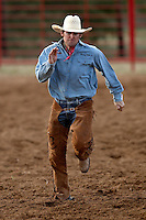 ADKINS, TX - JULY 19, 2008: The Mesquite Trail Drivers Association Ranch Rodeo held at the Mesquite Trail Drivers Association Rodeo Arena. (Photo by Jeff Huehn)