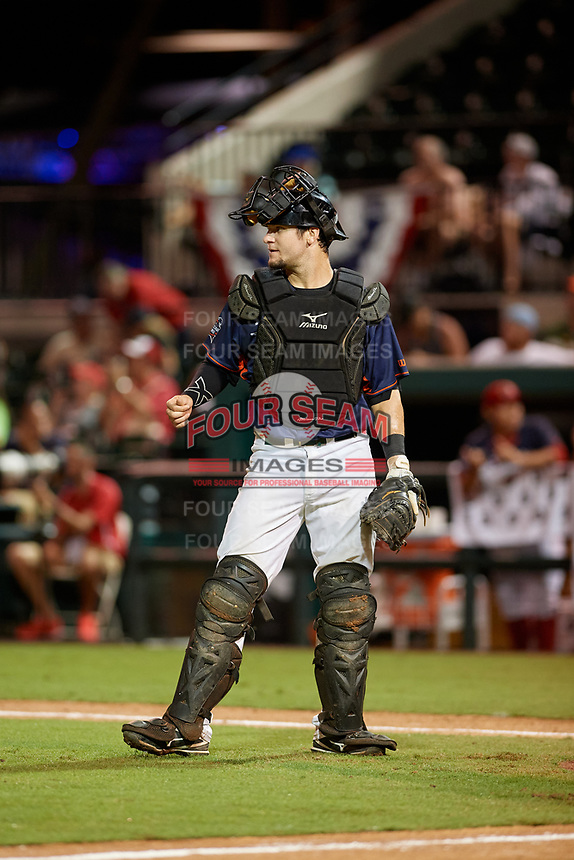 Daytona Tortugas catcher Chris Okey (39) during the Florida State League All-Star Game on June 17, 2017 at Joker Marchant Stadium in Lakeland, Florida.  FSL North All-Stars defeated the FSL South All-Stars  5-2.  (Mike Janes/Four Seam Images)