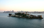October 29, 2005; San Francisco, CA, USA; Aerial view of Alcatraz Island and the Golden Gate National Recreation Area in front of the City of San Francisco, CA. Photo by: Phillip Carter
