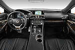 Stock photo of straight dashboard view of2015 Lexus RC F 2 Door Coupe Dashboard