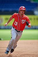 Washington Nationals Jake Noll (13) runs the bases during a Florida Instructional League game against the Miami Marlins on September 26, 2018 at the Marlins Park in Miami, Florida.  (Mike Janes/Four Seam Images)