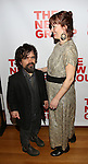 """Peter Dinklage and Erica Schmidt , pregnant, attend the Opening Night of The New Group World Premiere of """"All The Fine Boys"""" at the The Green Fig Urban Eatery on March 1, 2017 in New York City."""