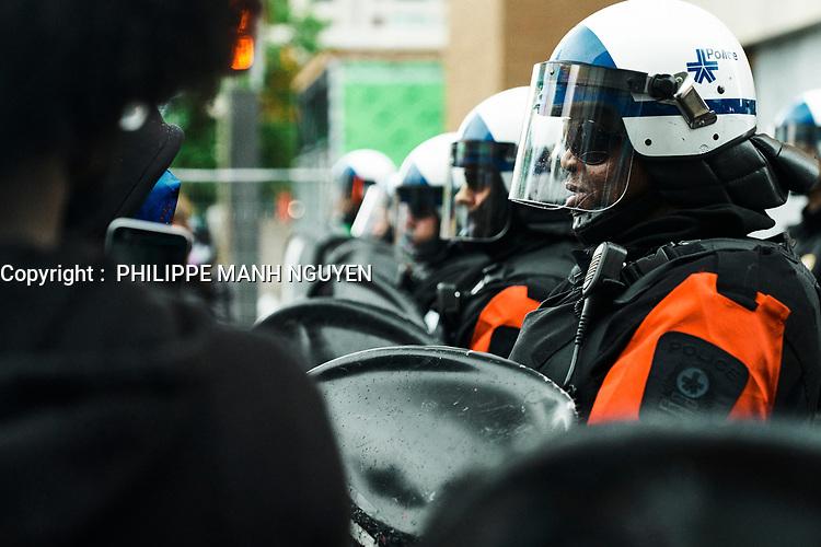 Manifestation Black Lives Matters, le 31 mai 2020.<br /> <br /> PHOTO : Philippe Manh Nguyen - AGENCE QUEBEC PRESSE