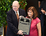 Rachel Alexandra owner Barbara Banke at the National Museum of Racing Hall of Fame ceremony on August 12, 2016 at the Fasig-Tipton Sales Pavilion in Saratoga Springs, New York. (Bob Mayberger/Eclipse Sportswire)