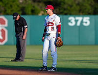 STANFORD, CA - JUNE 5: Tim Tawa during a game between UC Irvine and Stanford Baseball at Sunken Diamond on June 5, 2021 in Stanford, California.