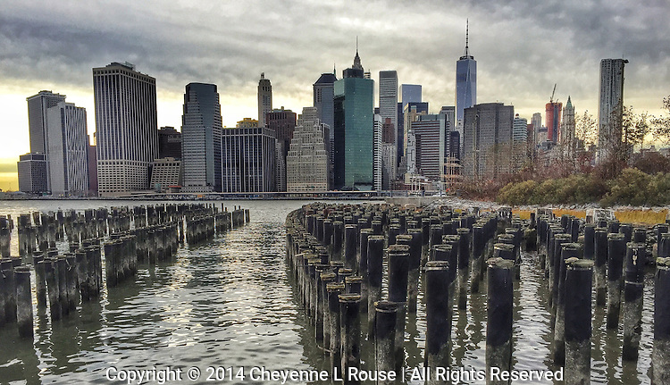 NYC Skyline - Brooklyn Bridge Park (iPhone 6)<br /> NOTE: This photo cannot be printed larger than 16x20 due to the fact that it was shot with an iPhone 6. I have other NYC skyline photos in this collection that can be printed to very large sizes.
