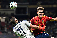 Gianluigi Donnarumma of Italy and Mikel Oyarzabal of Spain during the Uefa Nations League semi-final football match between Italy and Spain at San Siro stadium in Milano (Italy), October 6th, 2021. Photo Andrea Staccioli / Insidefoto
