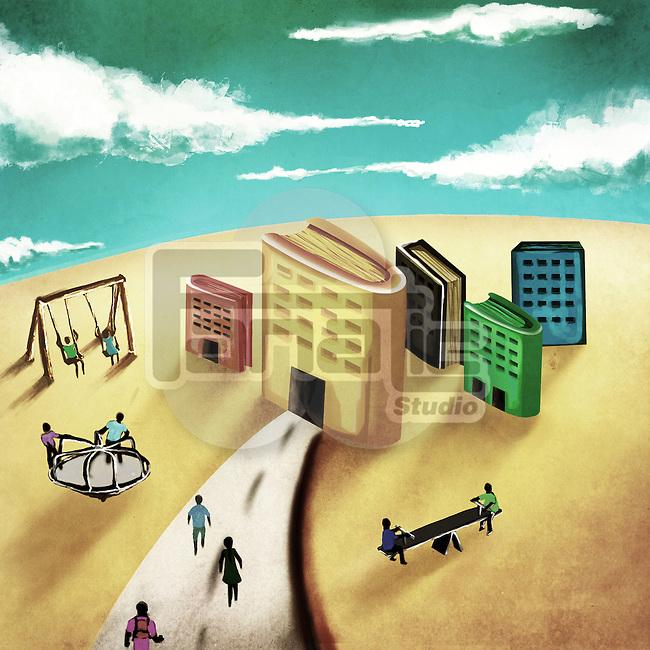 Illustrative image of children in school campus