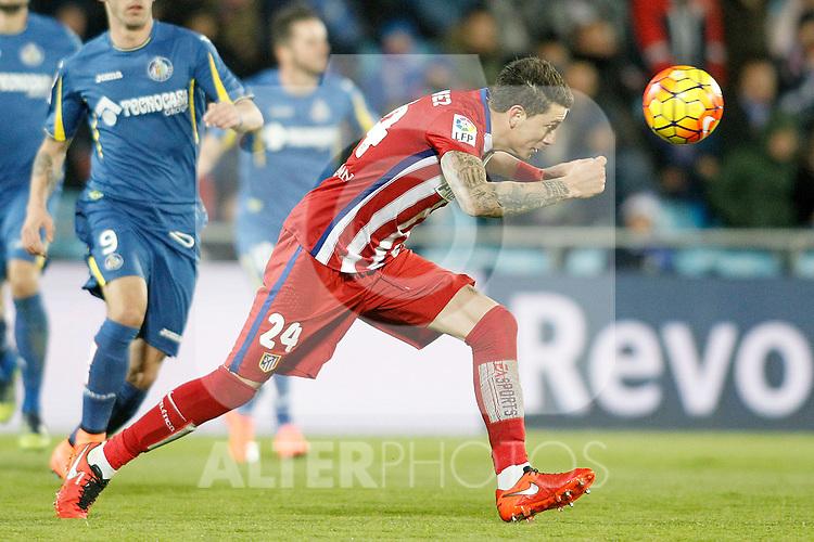 Atletico de Madrid's Jose Maria Gimenez during La Liga match. February 14,2016. (ALTERPHOTOS/Acero)