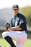 March 17th 2008:  Chris Garcia of the New York Yankees minor league system during Spring Training at Legends Field Complex in Tampa, FL.  Photo by:  Mike Janes/Four Seam Images