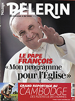 Pelerin France Magazine Pope Francis .<br /> Photograph by Stefano Spaziani.5 december 2013