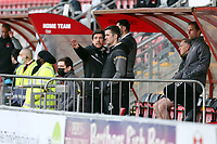 Port Vales new manager Darrell Clarke during Leyton Orient vs Port Vale, Sky Bet EFL League 2 Football at The Breyer Group Stadium on 20th February 2021
