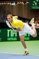 08-04-12, Netherlands, Amsterdam, Tennis, Daviscup, Netherlands-Rumania, Luncanu