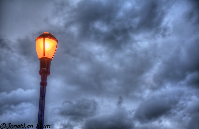 Street Lamp with Clouds, Riverside Park, NYC